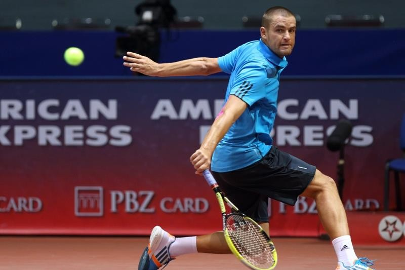 Mikhail Youzhny suffered an early exit Zagreb Indoors